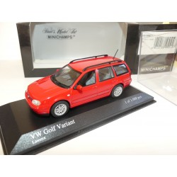 VW GOLF VARIANT IV 1997 Rouge MINICHAMPS 1:43