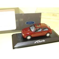 FORD FIESTA MK V Phase 1 3 PORTES 1996 Bordeaux MINICHAMPS 1:43