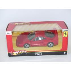 FERRARI F40 Rouge HOTWHEELS 1:43 boite carton