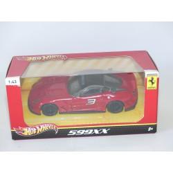 FERRARI 599 XX Rouge HOTWHEELS 1:43 boite carton