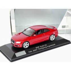 AUDI A5 I Phase 1 COUPE Rouge SOP 2007 SCHUCO 1:43