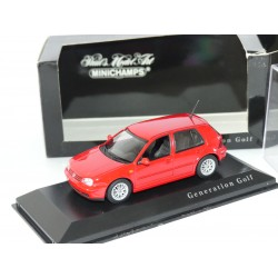 VW GOLF GTi GENERATIN IV  Rouge MINICHAMPS 1:43