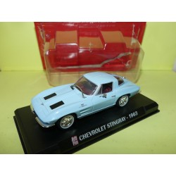 CHEVROLET STINGRAY 1963 Bleu AUTO PLUS 1:43