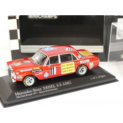 MERCEDES 300 SEL 6.8 24H PAUL RICARD 1971 MINICHAMPS 1:43