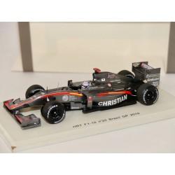 HRT F1-10 N°20 GP DE BELGIQUE 2010 S. YAMAMOTO SPARK S3011 1:43