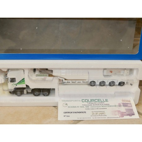 CAMION SCANIA R 164L 580 NOOTEBOOM Transport COURCELLE LIONTOYS 1:50