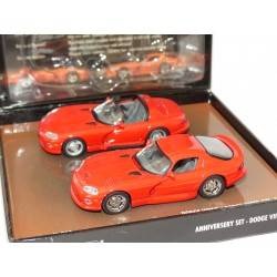 DODGE VIPER ET VIPER GTS 1993 Rouge SET MINICHAMPS 1:43