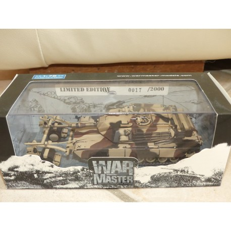 CHAR ABRAMS M1A1 MINE ROLLER LOUISIANA 1998 WARMASTER 1:72