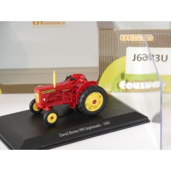 TRACTEUR DAVID BROWN 990 IMPLEMATIC 1963 UNIVERSAL HOBBIES 1:43 vitrine