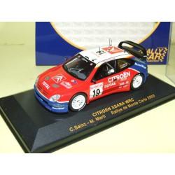 CITROEN XSARA WRC RALLYE MONTE CARLO 2003 C. SAINZ RALLY CAR 1:43 3ème