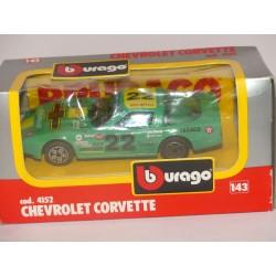 CHEVROLET CORVETTE N°22 Vert BURAGO 4152 1:43