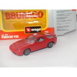 PORSCHE 928 Rouge BURAGO 4191 1:43