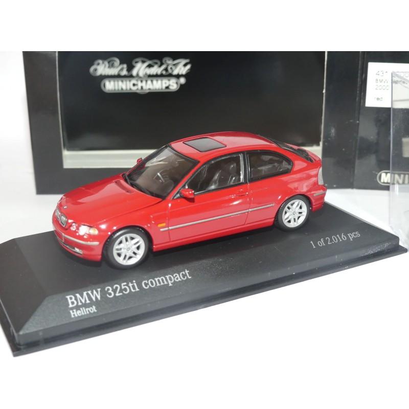 BMW 325 Ti COMPACT 2000 Rouge MINICHMAPS 1:43