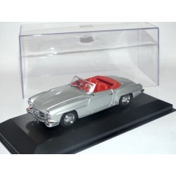 MERCEDES 190 SL Gris MINICHAMPS 1:43 interieur rouge