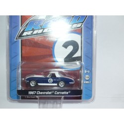 CHEVROLET CORVETTE 1967 N°6 ROAD RACER GREENLIGHT 1:64
