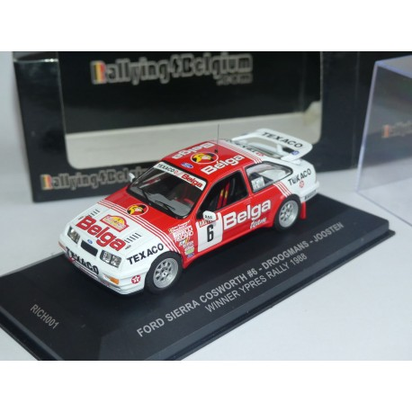 FORD SIERRA COSWORTH RALLYE D'YPRES 1988 DROOGMANS IXO RICH001 1:43 1er