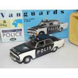 FORD ZEPHIR 6 MKIII POLIS POLICE DE SUEDE VANGUARDS VA04605 1:43