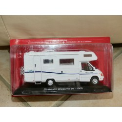 CAMPING CAR CHAUSSON WELCOME 30 FORD 2000 IXO PRESSE 1:43