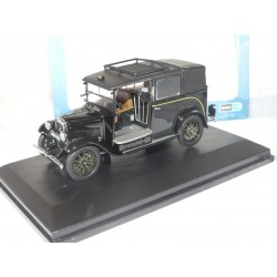 BURGUNDY AUSTIN LOW LOADER TAXI Noir OXFORD DIECAST 1:43