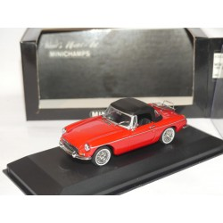 MG MGB CABRIOLET CAPOTE 1962-69 Rouge MINICHAMPS 1:43