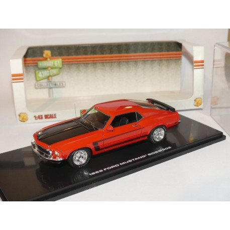 FORD MUSTANG BOSS 302 1969 Orange et Noir HIGHWAY61 1:43