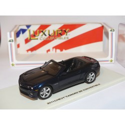 CHEVROLET CAMARO SS CONVERTIBLE 2011 Bleu LUXURY COLLECTIBLE 1:43