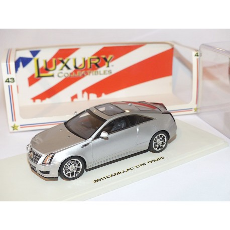 CADILLAC CTS COUPE 2011 Gris LUXURY COLLECTIBLES 1:43