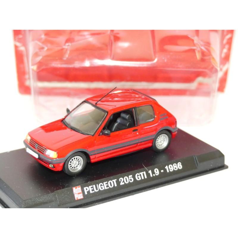 PEUGEOT 205 GTi 1986 Rouge AUTO PLUS 1:43