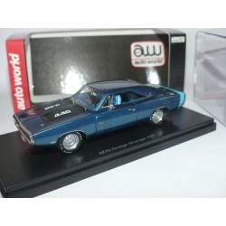 DODGE CHARGER R/T 1970 Bleu ERTL AUTO WORLD 1:43