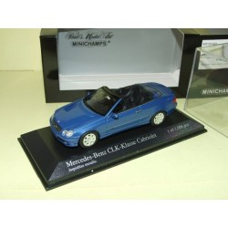 MERCEDES CLASSE CLK Cabriolet W209 Bleu MINICHAMPS 1:43