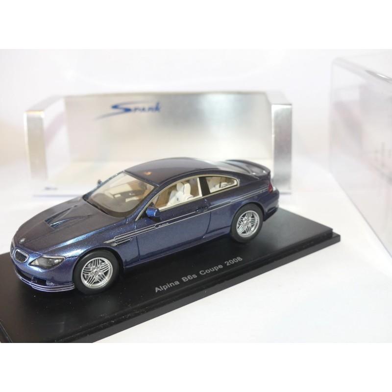 BMW ALPINA B6S COUPE 2008 Bleu SPARK S0740 1:43
