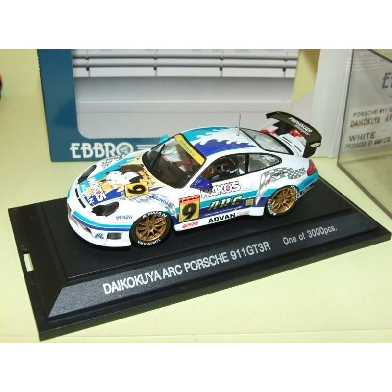 PORSCHE 911 GT3R N°9 DAIKOKUYA ARC EBBRO 229 1:43