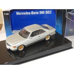 MERCEDES 500 SEC COUPE W126 Gris Clair AUTOART 1:43 roue sport