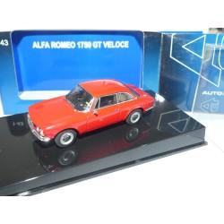 ALFA ROMEO 1750 GT VELOCE Rouge AUTOART 1:43