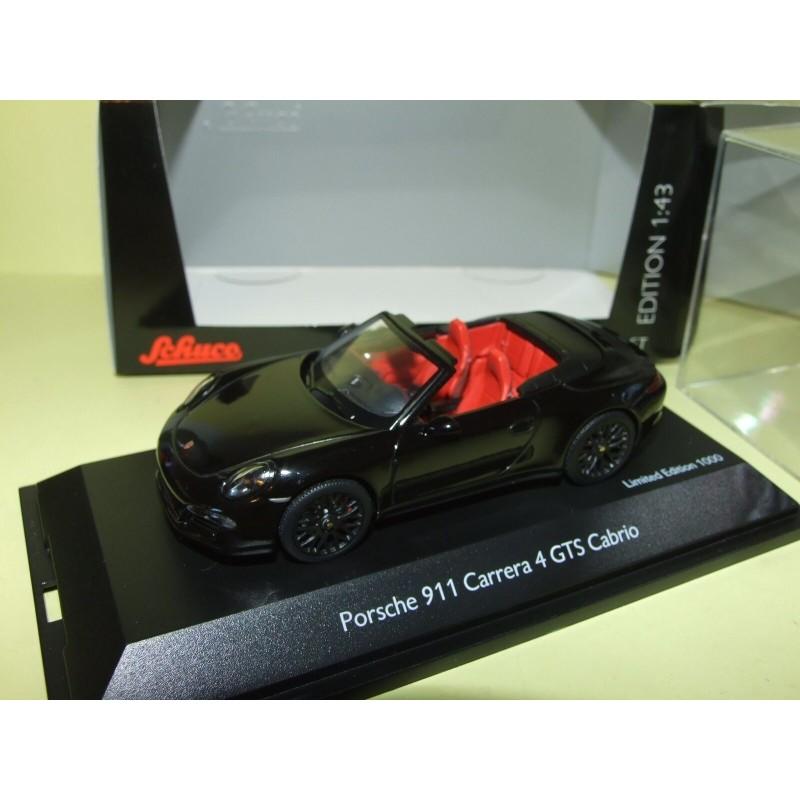 PORSCHE 911 CARRERA 4 GTS CABRIOLET 991 2014 Noir SCHUCO 1:43