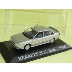 RENAULT 21 2L. TURBO 1988 Gris UNIVERSAL HOBBIES Collection M6 1:43