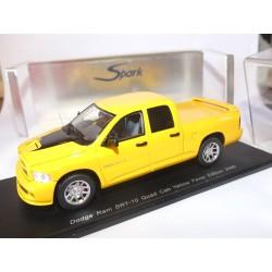 DODGE RAM SRT-10 QUAD CAB 2005 Jaune SPARK S0871 1:43