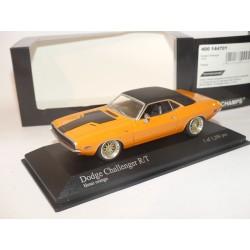 DODGE CHALLENGER R/T 1970 Orange MINICHAMPS 1:43 roue modifié