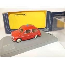 FIAT 600 D 1960 VIGILI DEL FUOCO POMPIERS PROGETTOK 159 1:43