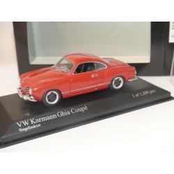 VW KARMANN GHIA COUPE 1966 Rouge Red MINICHAMPS 1:43 roue modifié