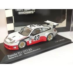 PORSCHE 911 GT3 R  N°43 24H DAYTONA 2001 MINICHAMPS 1:43
