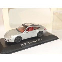 PORSCHE 911 TARGA 997 Gris MINICHAMPS 1:43 roue noire