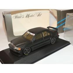 MERCEDES 190 E EVO 1 VERSION TEST CAR Noir Matt MINICHAMPS 1:43 modèle modifié