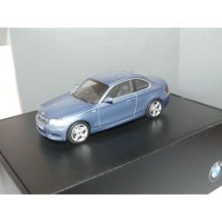 BMW SERIE 1 COUPE Bleu MINICHAMPS 1:43