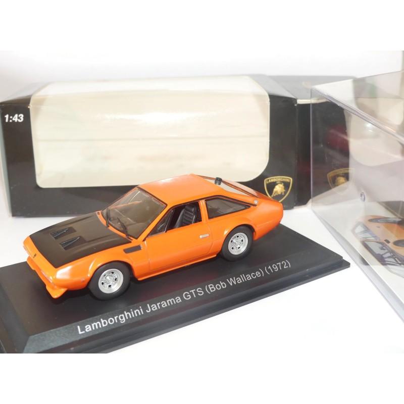 LAMBORGHINI JARAMA GTS (BOB WALLACE) 1972 Orange et Noir IXO PRESSE 1:43