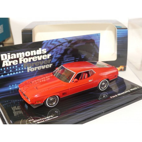 FORD MUSTANG MACH I JAMES BOND DIAMOND ARE FOREVER MINICHAMPS 1:43