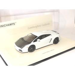 LAMBORGHINI GALLARDO Blanc Capot Carbone MINICHAMPS 1:43 modèle modifié