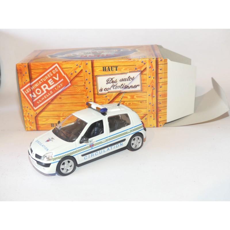 RENAULT CLIO II POLICE de la Circulation NOREV pour HACHETTE  1:43 boite carton