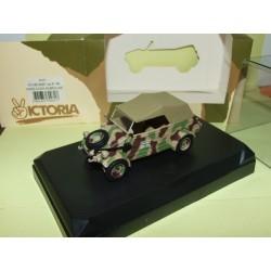 VW KUBELWAGEN Type 82 1944 PANZER DIVISION W/CAMOUFLAGE MILITAIRE VICTORIA R031 1:43