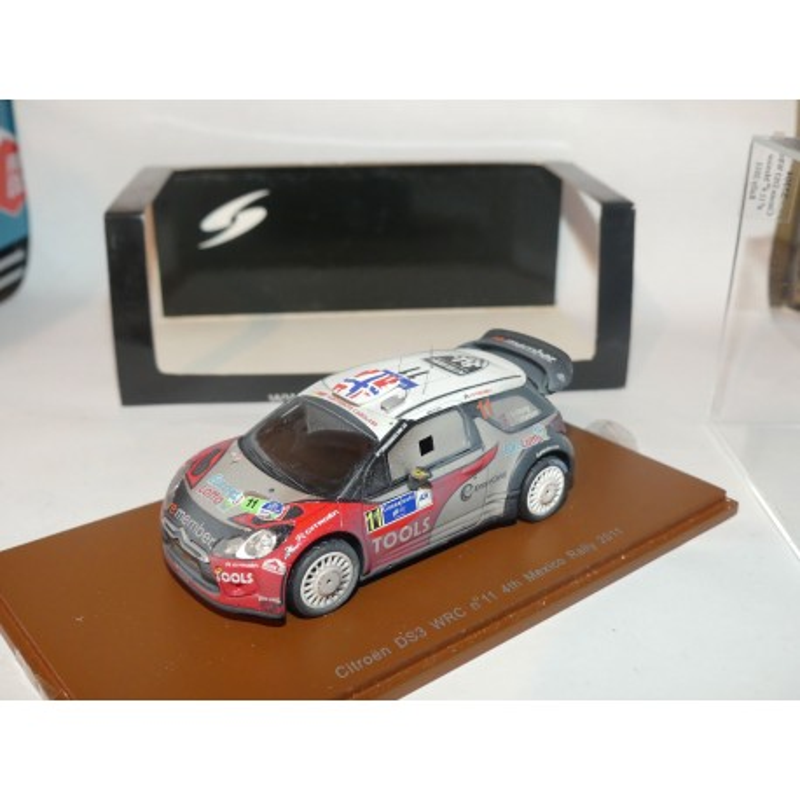 CITROEN DS3 WRC RALLYE DU MEXIQUE 2011 P. SOLBERG SPARK S3304 1:43